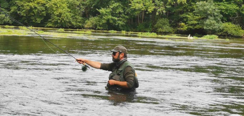 pêche à la mouche en wadding
